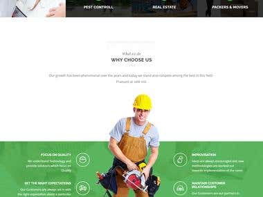 This website is related to local services provider like plumber, carpenter, etc.