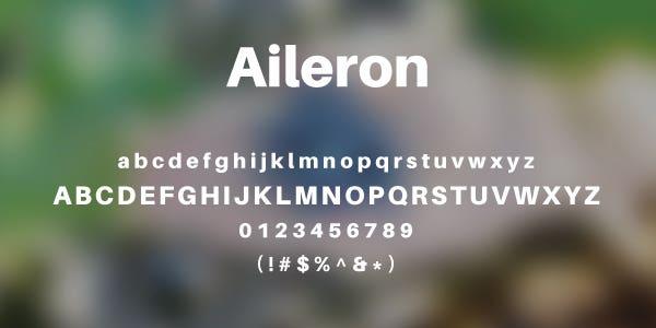 Aileron Free Font