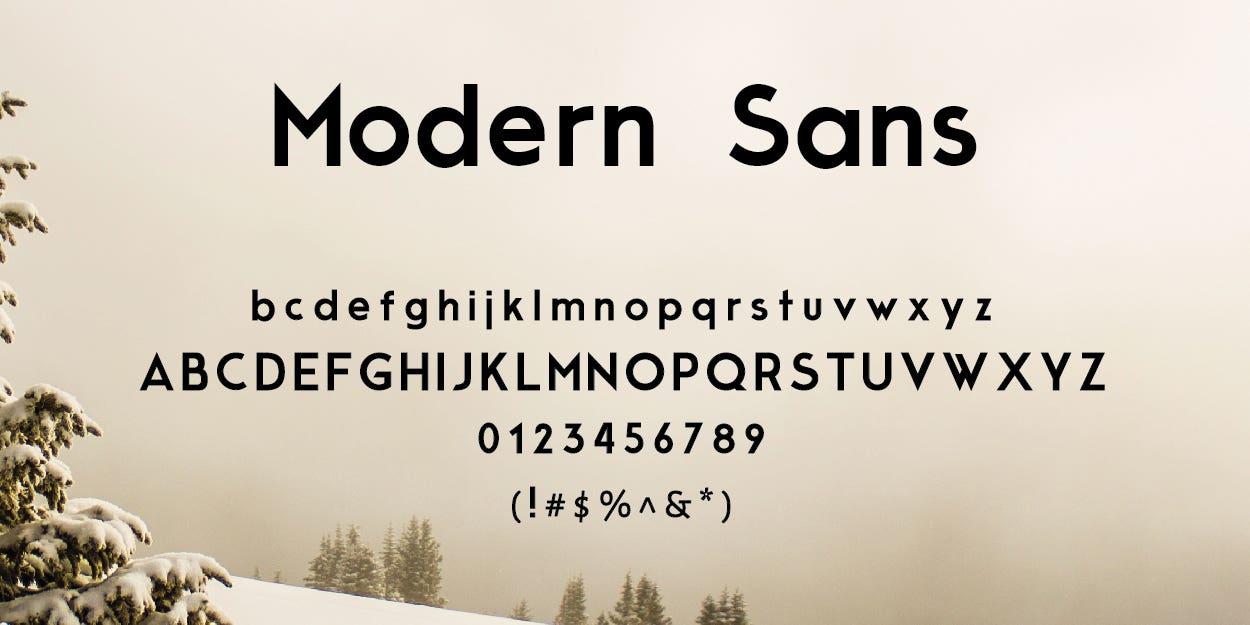 Modern Sans Free Font