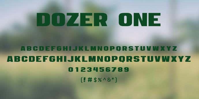 Dozer One Free Font