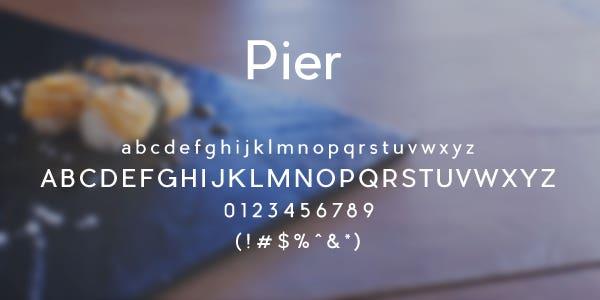 Pier Free Font