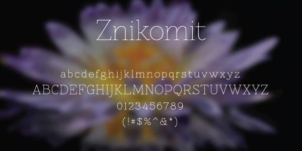 Znikomit Free Font