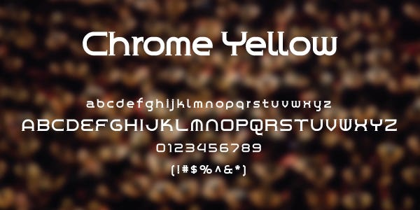 Chrome Yellow Free Font