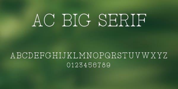 AC Big Serif Free Font