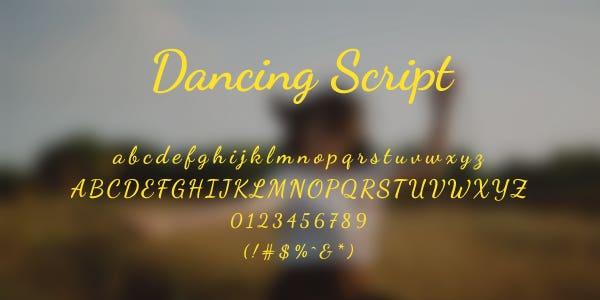 Dancing Script Free Font