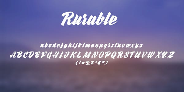 rurable free font
