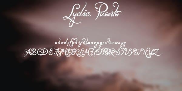 Lydia Puente Free Font