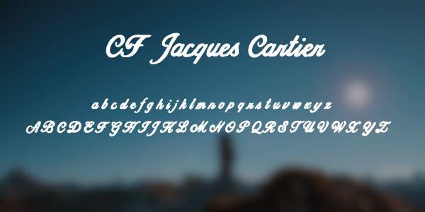 CF Jacques Cartier Free Font