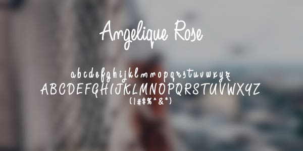 Angelique Rose Free Font