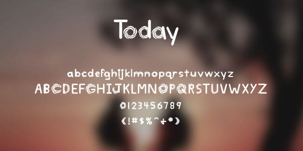 Today Free Font
