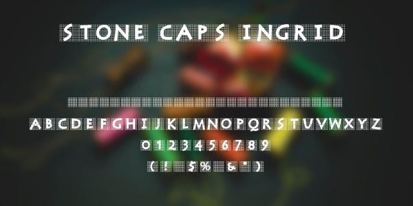 Stone Caps Ingrid Free Font