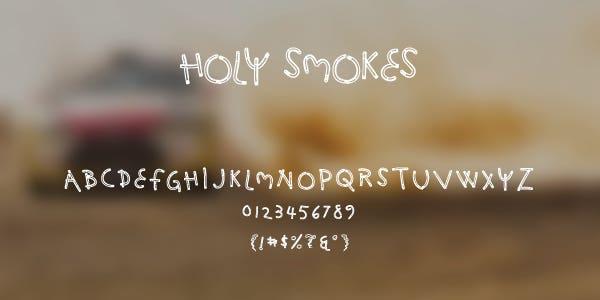 Holy Smokes Free Font