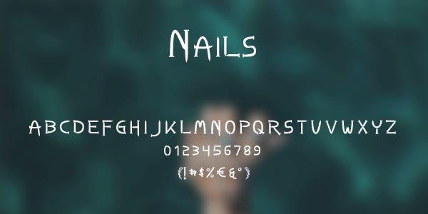 Nails Free Font