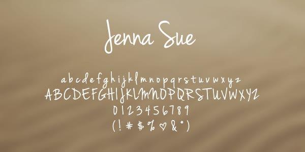 Jenna Sue Free Font