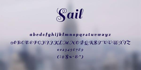 Sail Free Font
