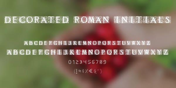 Decorated Roman Initials Free Font