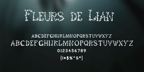 Fleurs De Lian Free Font