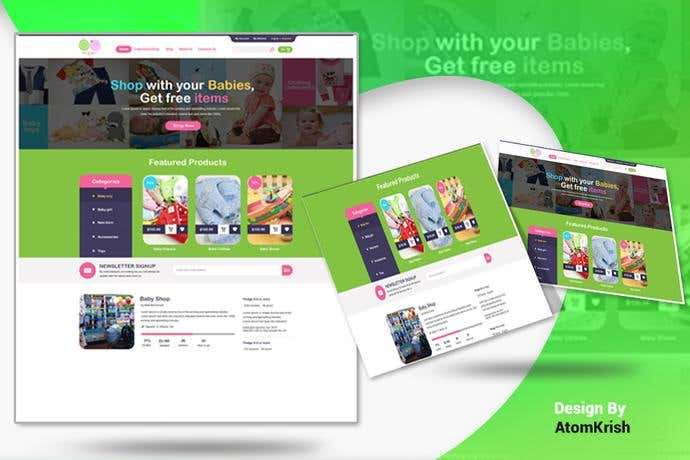 Best ecommerce homepage design for Big Button Baby Co.