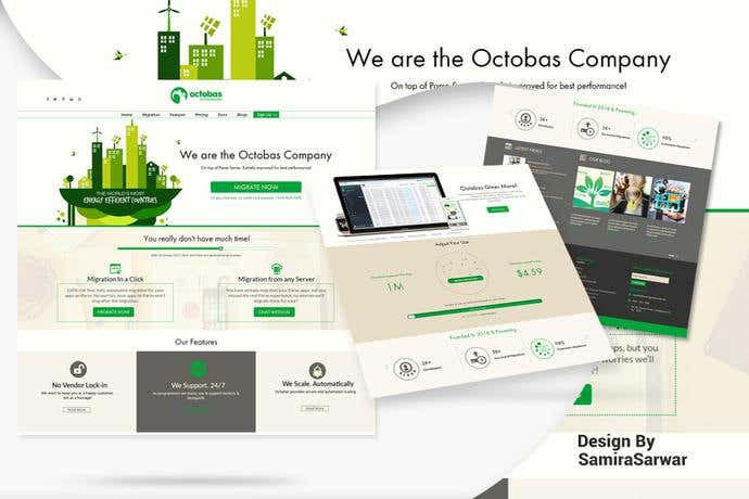 Best business homepage design for Octobas