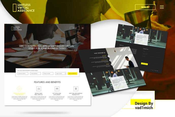 Best business homepage design for Limitless Virtual Assistance
