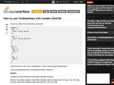 I built this chat-based Chrome Extension as a fun side-project. Stack Overflow is the largest community Q&A site for developers, and this extension allows SO users to chat about the questions and answers via a slide-out panel in their Chrome browser. From a technical perspective, this extension features fully real-time chat messaging using Firebase as the backend. The front end is built entirely in AngularJS, and I did the design (HTML/CSS) from scratch (no templates).