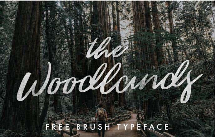 The Woodlands free cursive font
