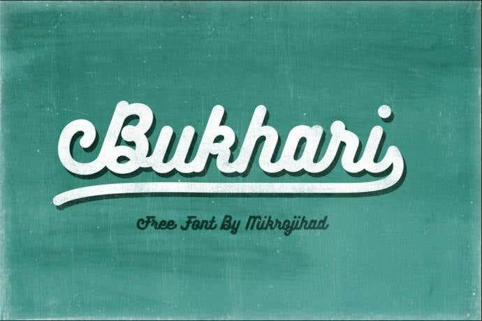 Bukhari free cursive font