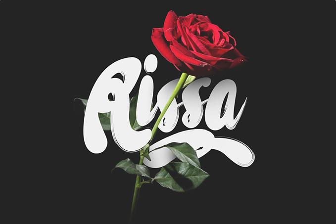 Rissa free cursive font