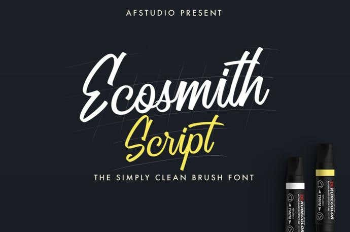 Ecosmith Script free cursive font