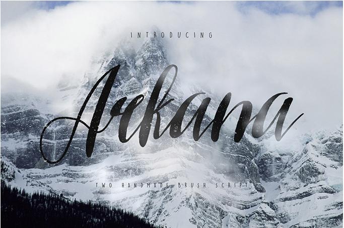 Arkana free cursive font