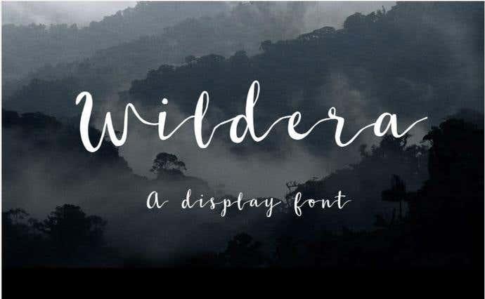 Wildera free cursive font