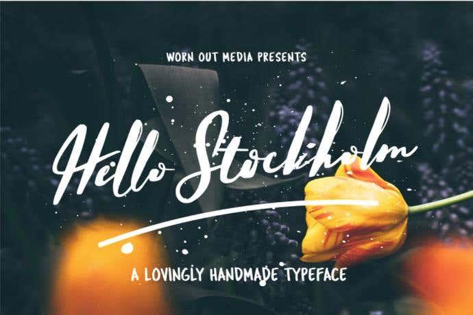 Hello Stockholm free cursive font