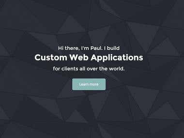 My personal website, a Rails application with a Twitter Bootstrap front end.