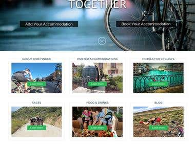 This is a website which helps to cyclist  to stay together , this provides accommodation , food , drinks ,hotel facilities etc..