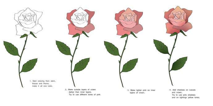How To Draw A Rose In 7 Steps  - Image 3