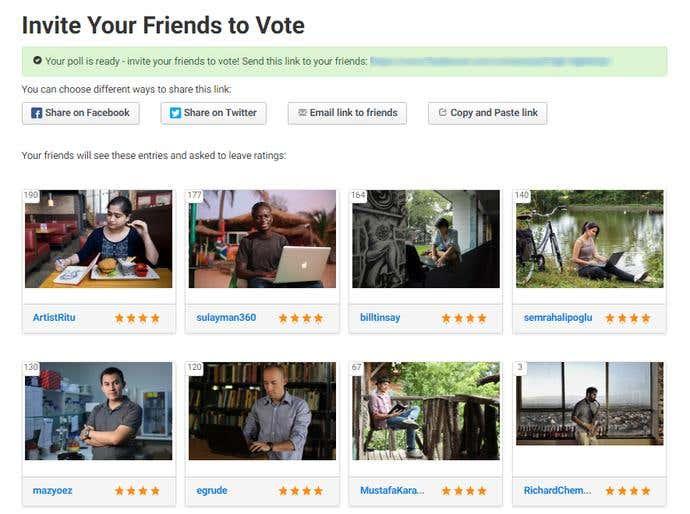 freelancer contest poll