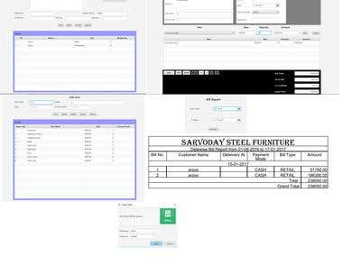 Sarvoday Billing is developed for furniture related product inventory using JavaFX and MySQL database. One can use this product for stock management, and for many type of product. One software which provide solution related to Customer management, Stock Management, Inward-outward, Bill management etc.