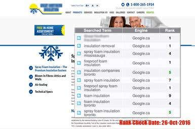 SEO for Insulation Company (Canada)