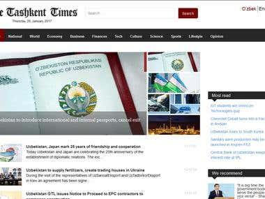 Tashkent news portal.