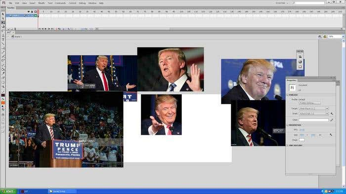 Step 1 of how to draw a caricature - finding reference images for your Donald Trump caricature