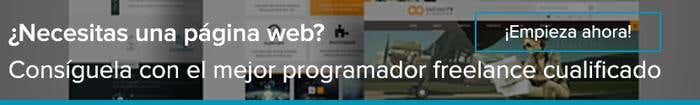 Pagina web programador freelance