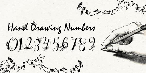 Hand Drawn Numbers best number font