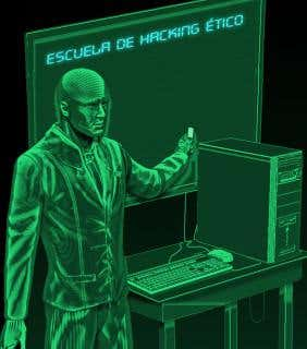 ilustracion escuela hacking