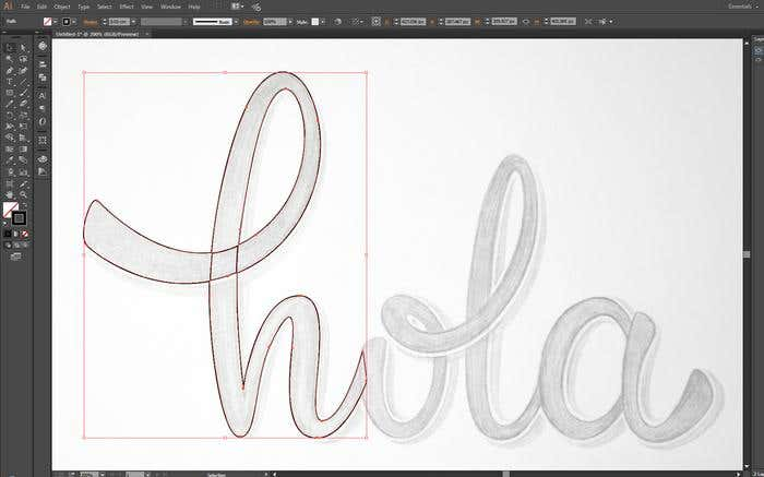 Make your own cursive lettering - Step 7 - vectorizing