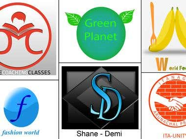 These are some of the logos I have designed for various brands...