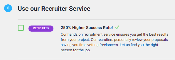 recruiter upgrade