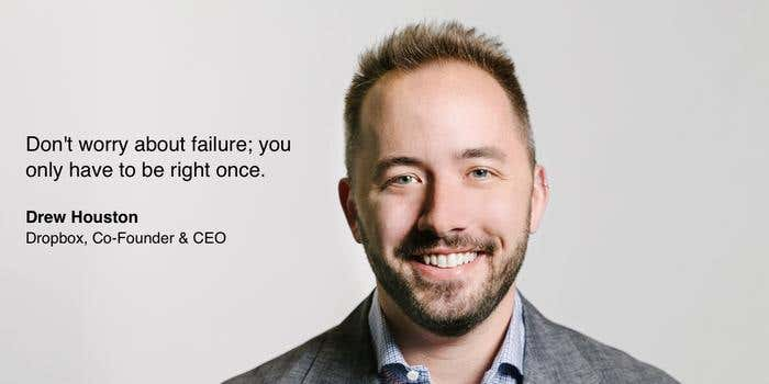 Inspirational quote from Dropbox CEO - mobile app ideas