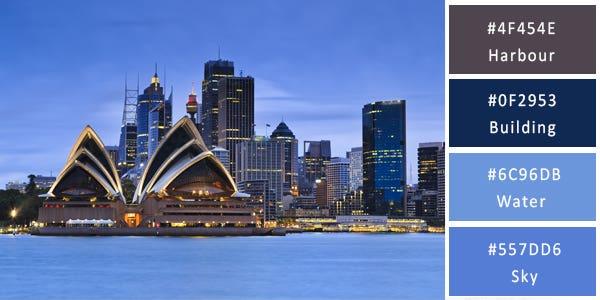 Sydney Opera House Color Palette