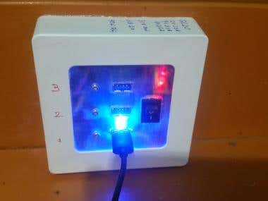 QC 2.0 3Ch Fast charger   12V 2.5V  9V 2.5A  5V2.5A   Usb interface to log and display data on a PC