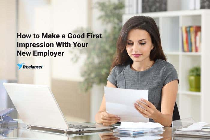 make good first impression with new employer